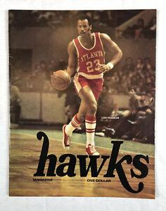 Atlanta Hawks vs Portland Trailblazers NBA Basketball Program Nov 9 1974 Hudson