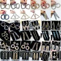 Fashion Geometric Long Tassel Crystal Earrings Women Drop Dangle Stud Jewelry