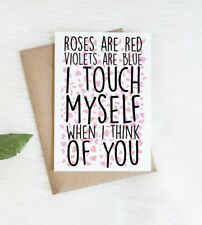 Funny Valentines Anniversary Card for him her husband wife