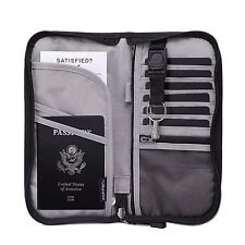 Zoppen RFID Travel Wallet & Documents Organizer Zipper Case - Family Passports