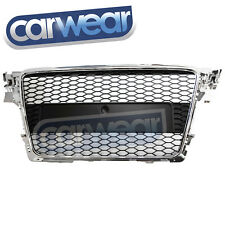 Audi A4 B8 Chrome Black  RS4 Style Hex Grille Grille