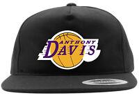 BLACK Anthony Davis Los Angeles Laker AD Brow LOGO Snapback Hat