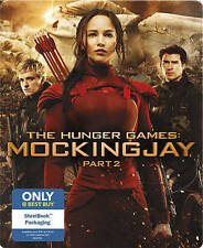 The Hunger Games: Mockingjay, Part 2 (Blu-ray/DVD, 2016, SteelBook- BRAND NEW