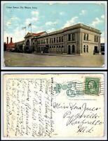 IOWA Postcard - 1911 Des Moines, Union Station K55