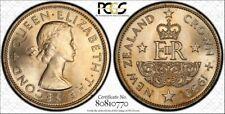 New Zealand 1 Crown 1953 MS64 PCGS copper-nickel KM#30 Elizabeth II 250k Golden