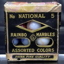 Peltier National Rainbo No. 5 Marbles in Original Box