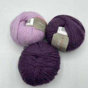Sublime Angora Merino Wool DK Shade 0044 & 0072 Pink & Purple