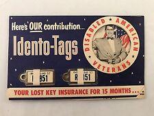 Pair 1957 Rhode Island Keychain License Plate DAV Tags in Original Mailer