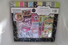 Colorbok Scrapbook Kit Album Papers Stickers Chipboard Bright Bird New