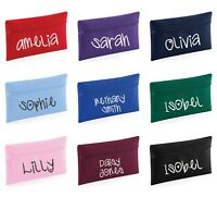 Personalised Glitter Name Pencil Case - Customised Printed School Teacher Gift