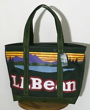 LL Bean Everyday Katahdin Medium Tote Bag Spruce Green Logo Zipper Closure NWT
