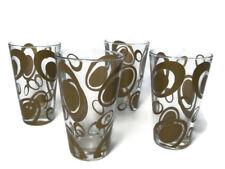 Le Gocce Cerve Mid Century Set of 4 Tumblers Highball Glasses Pop Art Barware