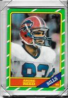 1986 Topps Buffalo Bills Football Card #388 Andre Reed RC Rookie AAO3