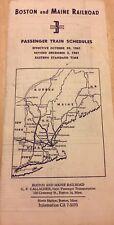 Vintage Boston and Maine Railroad Passenger Train Schedules 1961