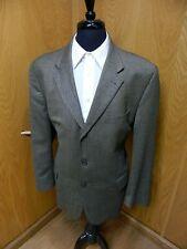 Mens Blazer Sport coat Jacket Fenzia 46r Golden Olive Herringbone 100% Wool N#70