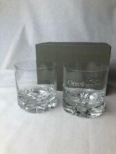Set of Two Vintage Orrefors Crystal Tumblers