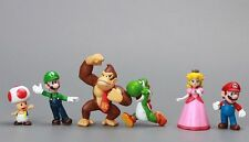Super Mario Bros Luigi Yoshi Friend Toys Figure Figurine Set Cake Topper x 6 pcs