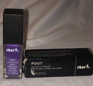 Avon Mark Pout Velvet Lip Paint Fantasy Matte Finish Purple