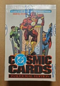 DC Cosmic Cards Inaugural Edition Factory Sealed Box Impel trading comics 1991