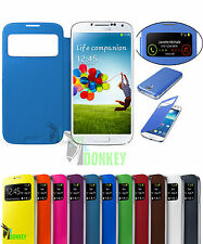 CUSTODIA FLIP COVER S VIEW SLIM PER SAMSUNG GALAXY S4 MINI GT I9190 + PELLICOLA