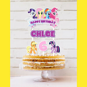 My Little Pony Cake Topper Personalised *STURDY* Kids Birthday Party Decorations