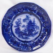Chen-Si Flow Blue Luncheon Plate John Meir & Sons Earthenware Antique #2