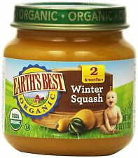 Earth`s Best Organic Stage 2, Winter Squash, 4 Ounce Jar (Pack of 12) , New, Fre