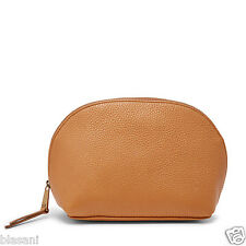 Fossil Original SL6909235 Camel Domed Cosmetic Case Leather Women's Wallet