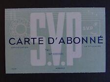Ancienne carte membre d'abonné SVP téléphone phone old visit card