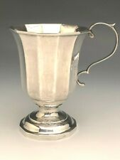 Antique Coin Silver Cup with Pedestal base, Hand Wroght