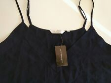 NWT ZOA New York Women's Navy Blue Cami Top  Adjustable Spaghetti Straps Size L