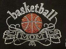 "HOTFIX RHINESTONES HEAT TRANSFER IRON  ""Basketball Mom Bling Bling"""