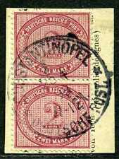 DP Türkei V 37 e  Paar   Paket-Briefstück  Constantinopel 1  gepr.  150,-