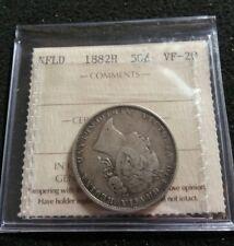 Newfoundland 1882-H 50 cents ICCS Grade Certified VF-20 Silver High Grade