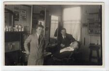 More details for interior of a kilmarnock barber shop: ayrshire postcard (c43914)
