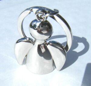 Angel Keyring Chrome Metal Gift Boxed
