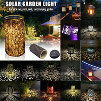 Solar LED Hanging Light Retro Lantern Outdoor Garden Atmosphere Decor Lamp LOT