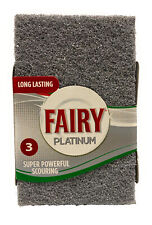 Pack Of 3 Fairy Scouring Pad Platinum Super Powerful For Superb Grease Cutting.