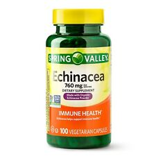 New Spring Valley Echinacea Capsules 760 Mg 100 Ct