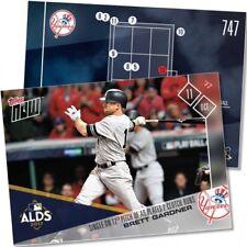 BRETT GARDNER TOPPS NOW SINGLE ON 12TH PITCH OF AB PLATES 2 CLUTCH RUNS MLB #747