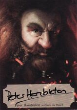 The Hobbit Desolation of Smaug Peter Hambleton Poster Auto Card 55/75