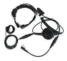 Military Covert Earpiece Tactical Throat Mic PTT for KENWOOD BAOFENG BF-UV5R TYT