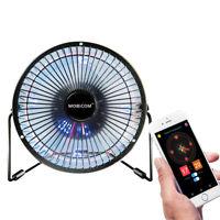 Mini fan, Led clock fan, Usb Mobile Bluetooth Fan, 6-inch DIY fan