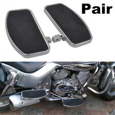 Left+Right Side Motorcycle Rider Front Floorboards Large Foot Pedal