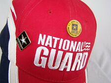 Vintage National Guard Baseball Hat Cap Red White Blue w/ 2 US Army lapel pins