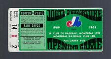 VINTAGE 1969 CARDINALS @ MONTREAL EXPOS BASEBALL FIRST GAME TICKET STUB - APR 14