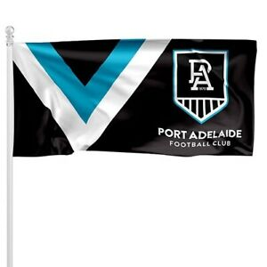 Port Adelaide Power AFL Flag Pole Flag 180 by 90cms! LE