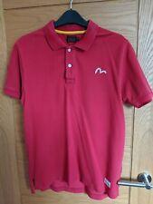 Mens Evisu Red Polo T-Shirt Medium
