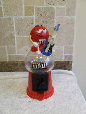 M & M RED GUITAR PLAYER SWEET DISPENSER RED WITH GUITAR 300 MM