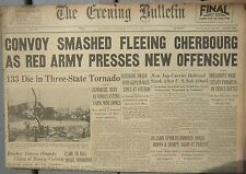 6/24/1944 The Evening Bulletin Newspaper: Russians Smash Wide Gaps In Nazi Lines